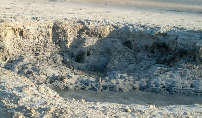 Iszapfortyogó a Solfatara-kráterben