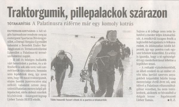 A 24 Óra (Komárom-Esztergom megyei napilap) július 17-i számában jelent meg beszámoló az akcióról