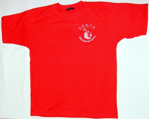 Póló  (piros, világoskék, khaki színekben,  S, M, L, XL, XXL méretben, hímzett logóval) 2500 Ft