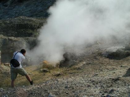 Nagy Száj (Bocca Grande) A Szolfatára kráterében