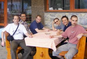 Az új túravezetők (Balról: Lieber Tamás, Szilvay Péter, Kovács Balázs, Rohrbacher Péter, Fadgyas F. Gábor, Barna József)
