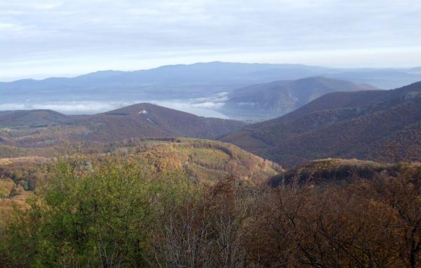 Őszi kilátás a Duna és a Börzsöny felé