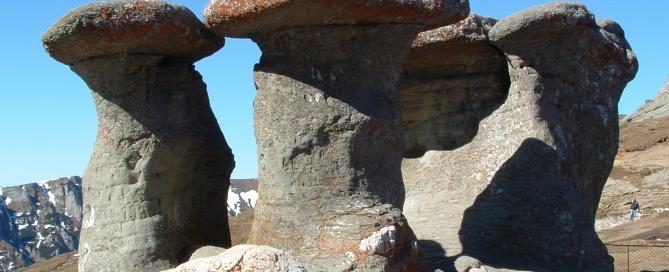 Babele sziklacsoport a Bucsecs-platón