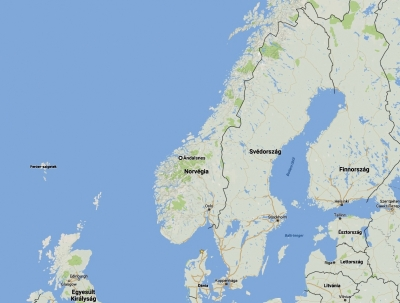 Åndalsnes helye Norvégia térképén