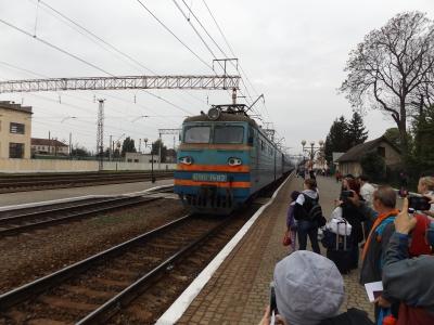 A munkácsi vasútállomására begördül vonatunk