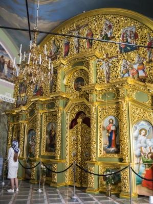 Ortodox kolostorbelső