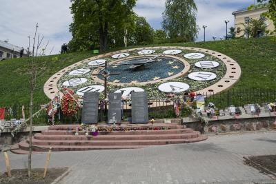 Áldozatok emlékhelye Kijev főterén