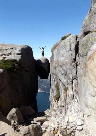 Ez is kipipálva Kjerag-szikla)