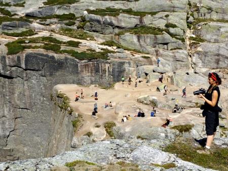 Kilátópont a beszorult szikla fölött