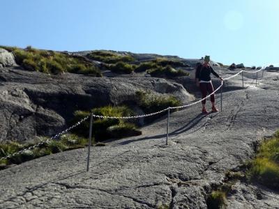 A fárasztó ereszkedés közben - Kjerag-túra