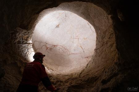 Gömbfülke a barlang felső szakaszában (Egri Csaba felvétele)