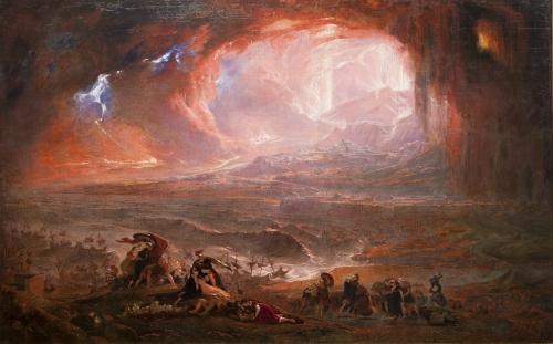 Pompeji és Herculaneum pusztulása - John Martin festménye (1821) - Forrás: Wikipedia
