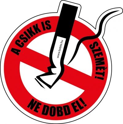 Kampánymatrica a cigarettacsikkek szétdobálása ellen