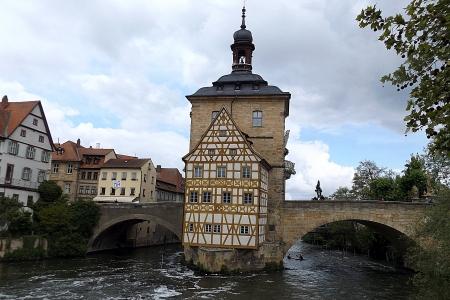 A régi városháza (Altes Rathaus) Bamberg egyik jelképe